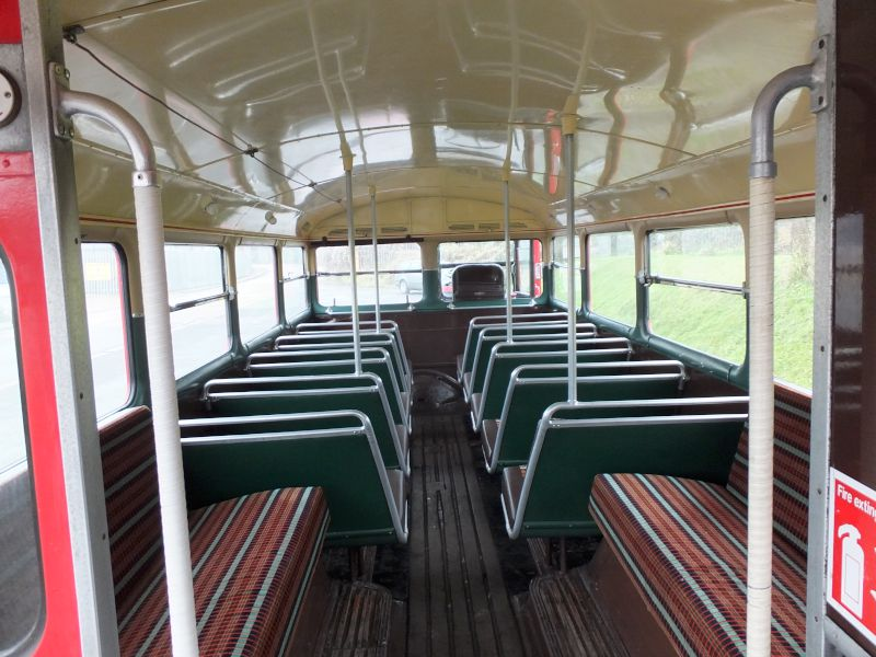 Lower deck on open top bus