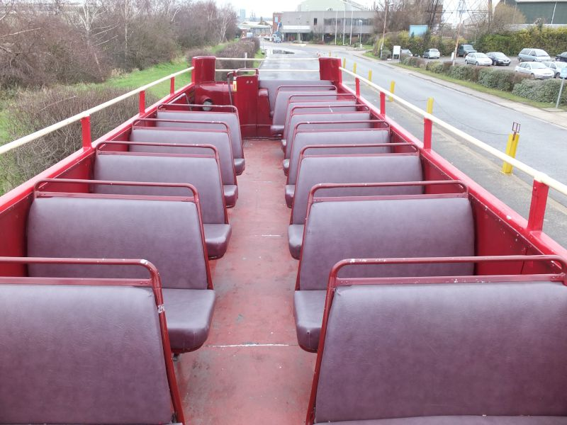 60 deck of open top bus